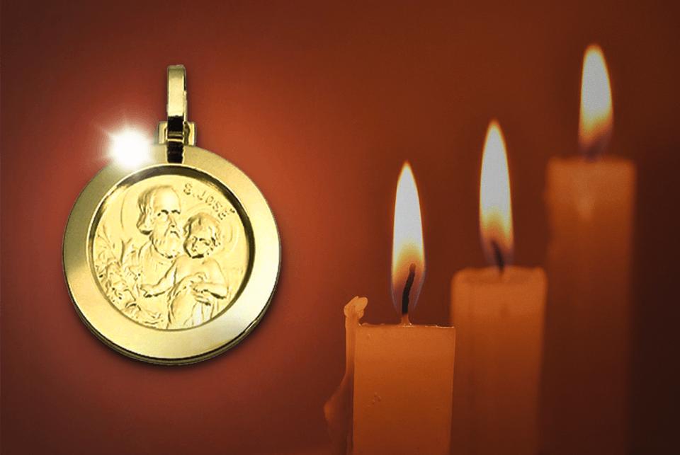 Guia de joias religiosas: Medalha de São José